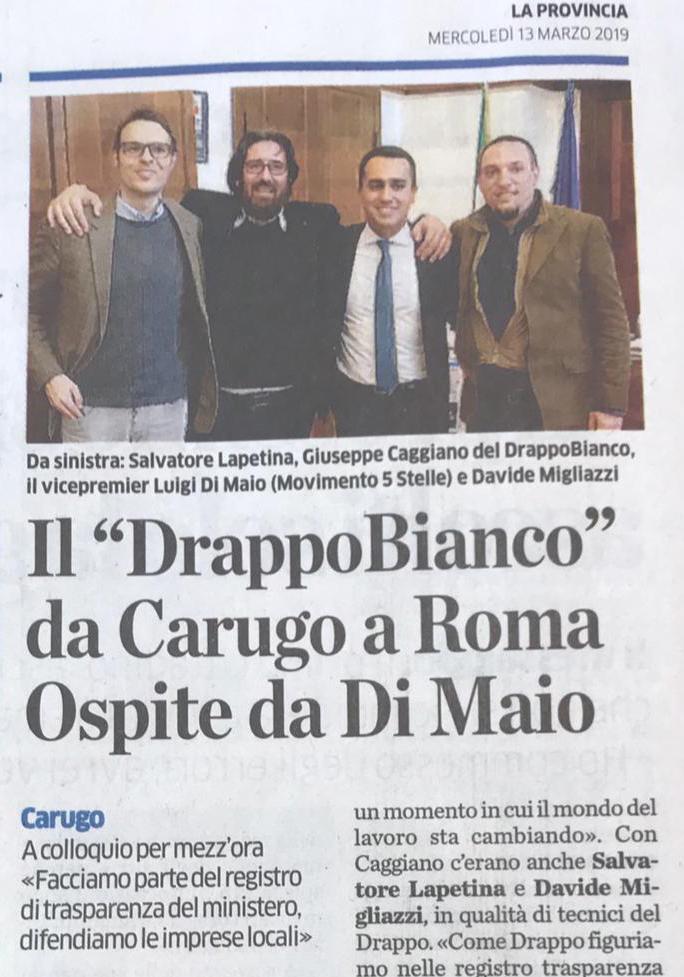 Il Drappo a Roma ospiti di Dimaio